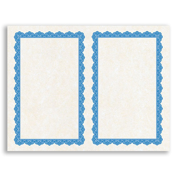 Copen Blue 2 UP Mini Printable Award Certificates