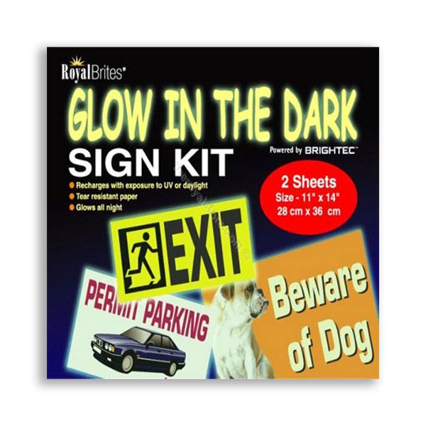 Glow in the Dark Sign Kit Royal Brites